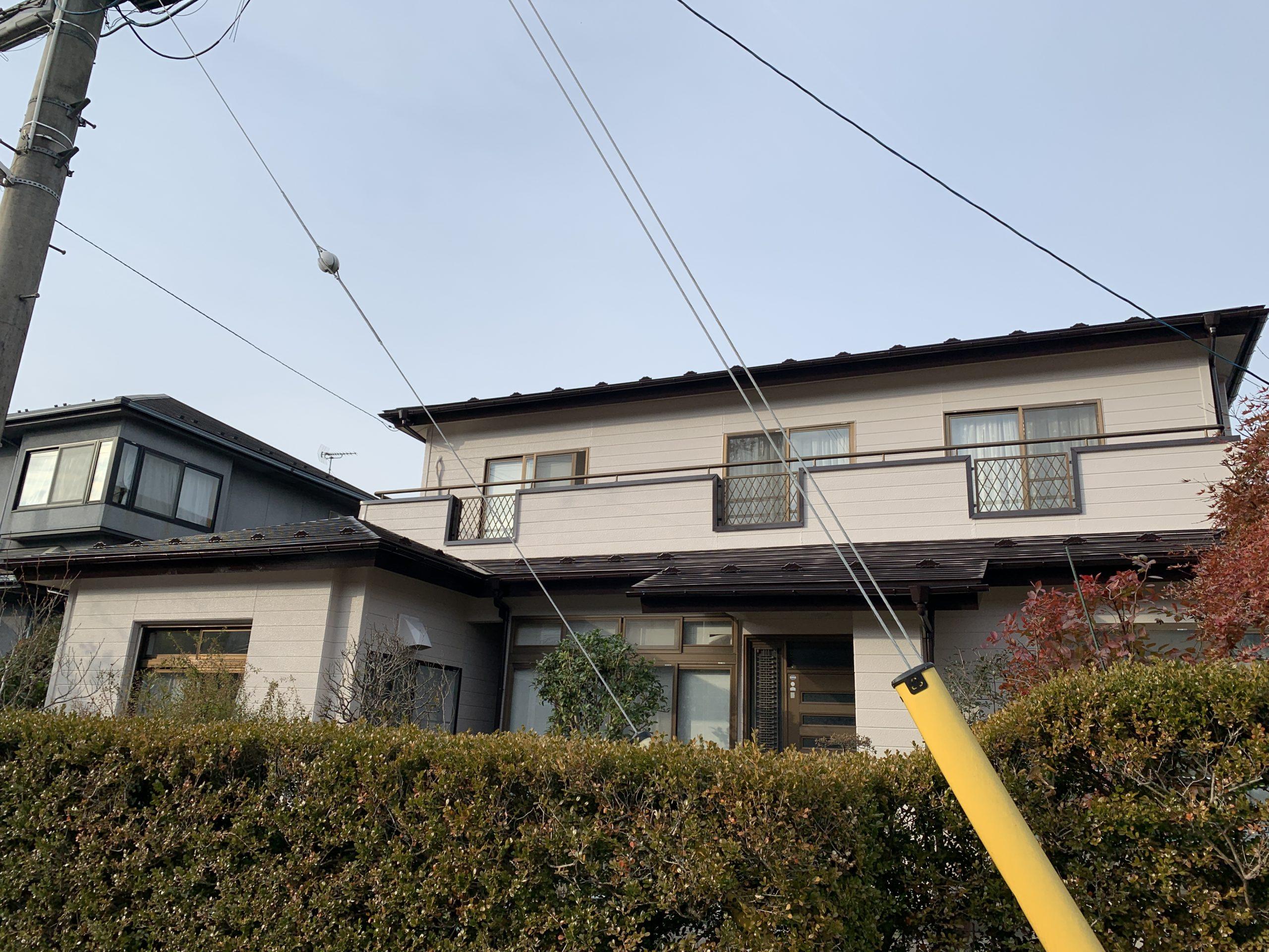 仙台市泉区Y様宅外壁塗装工事風景